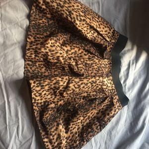 Zara leopard print mini skirt size S